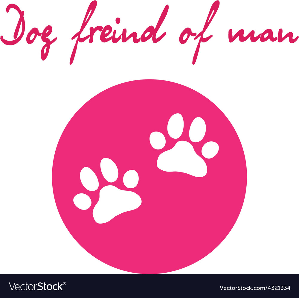 Dog paw icon of dog vector