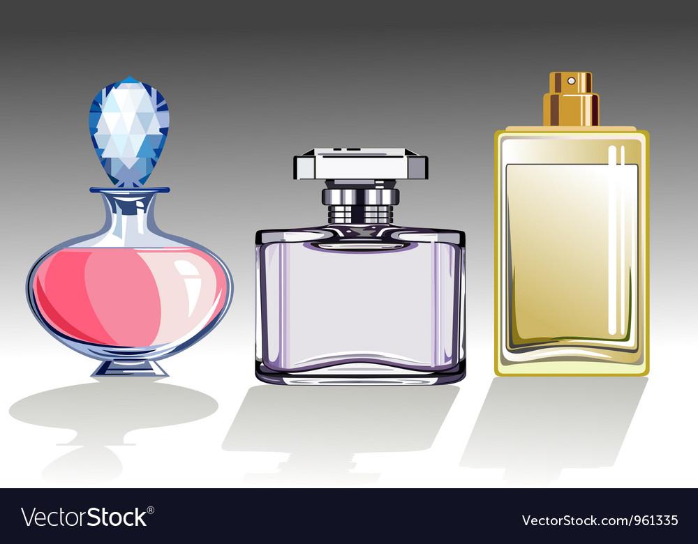 Set of perfume bottles vector