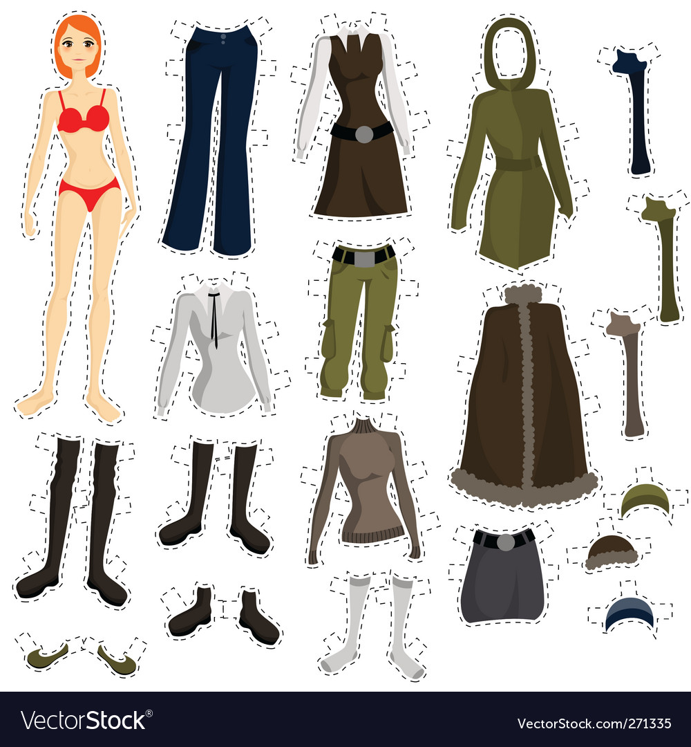 Wear to doll vector