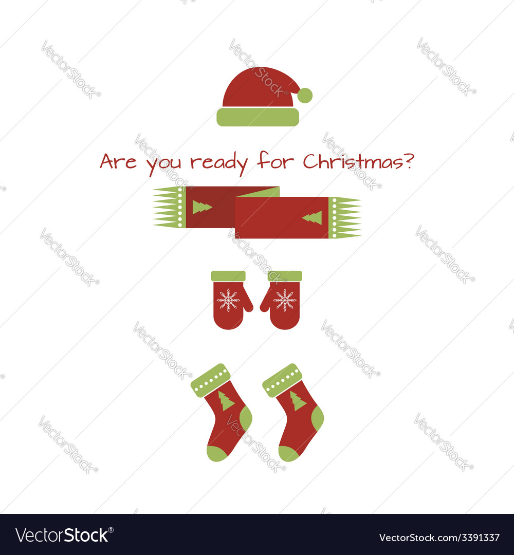 Card with christmas look vector