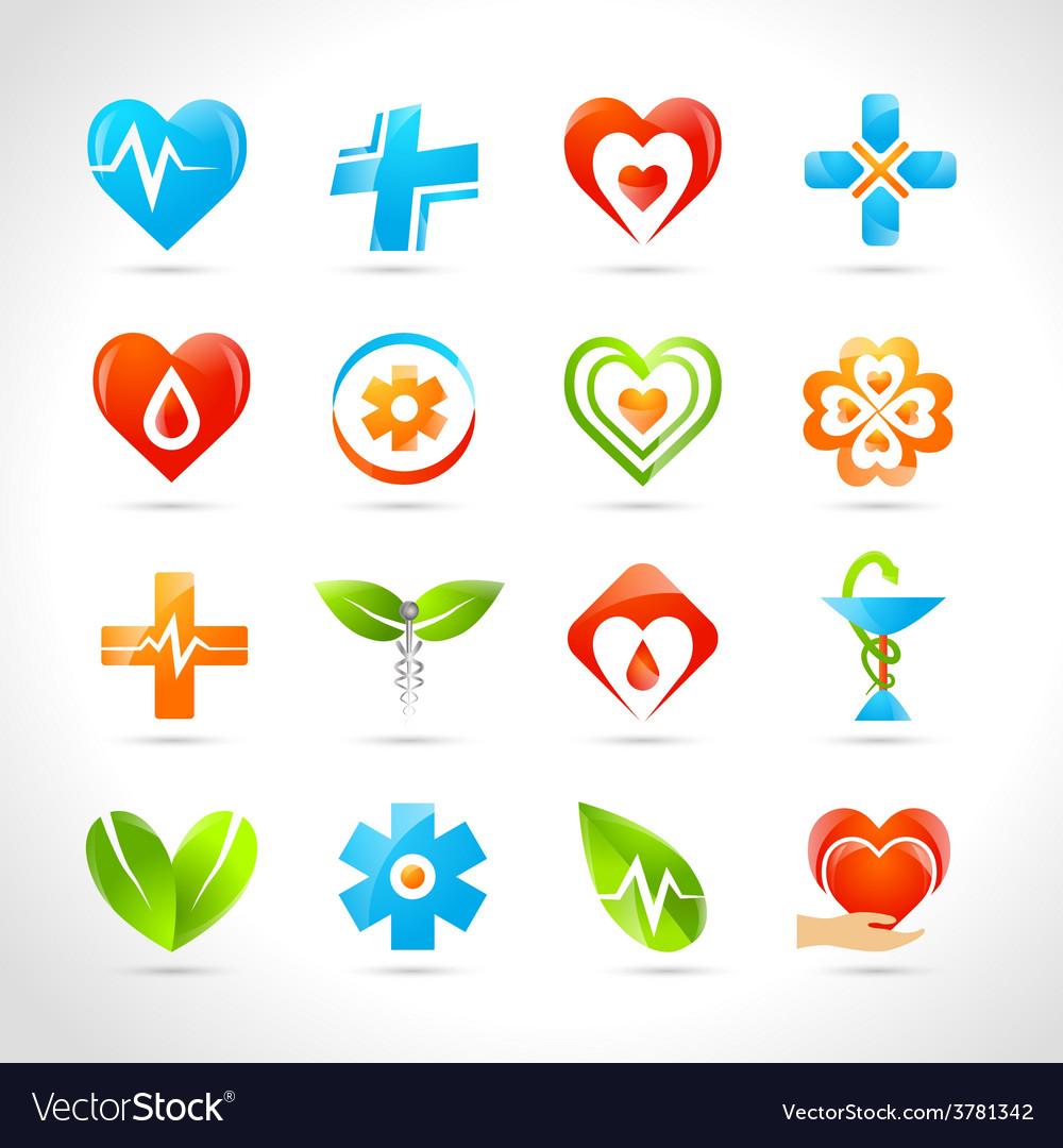 Medical logo icons vector