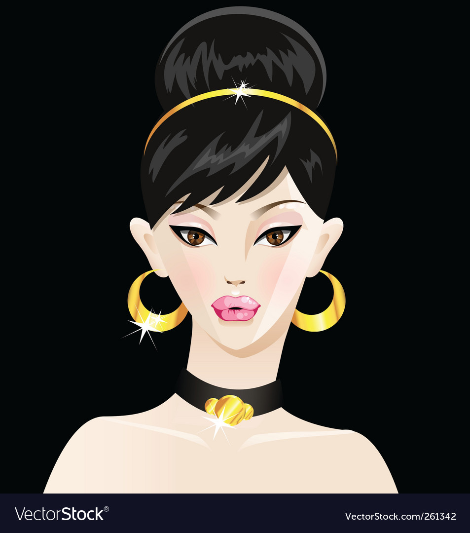 Young woman vector