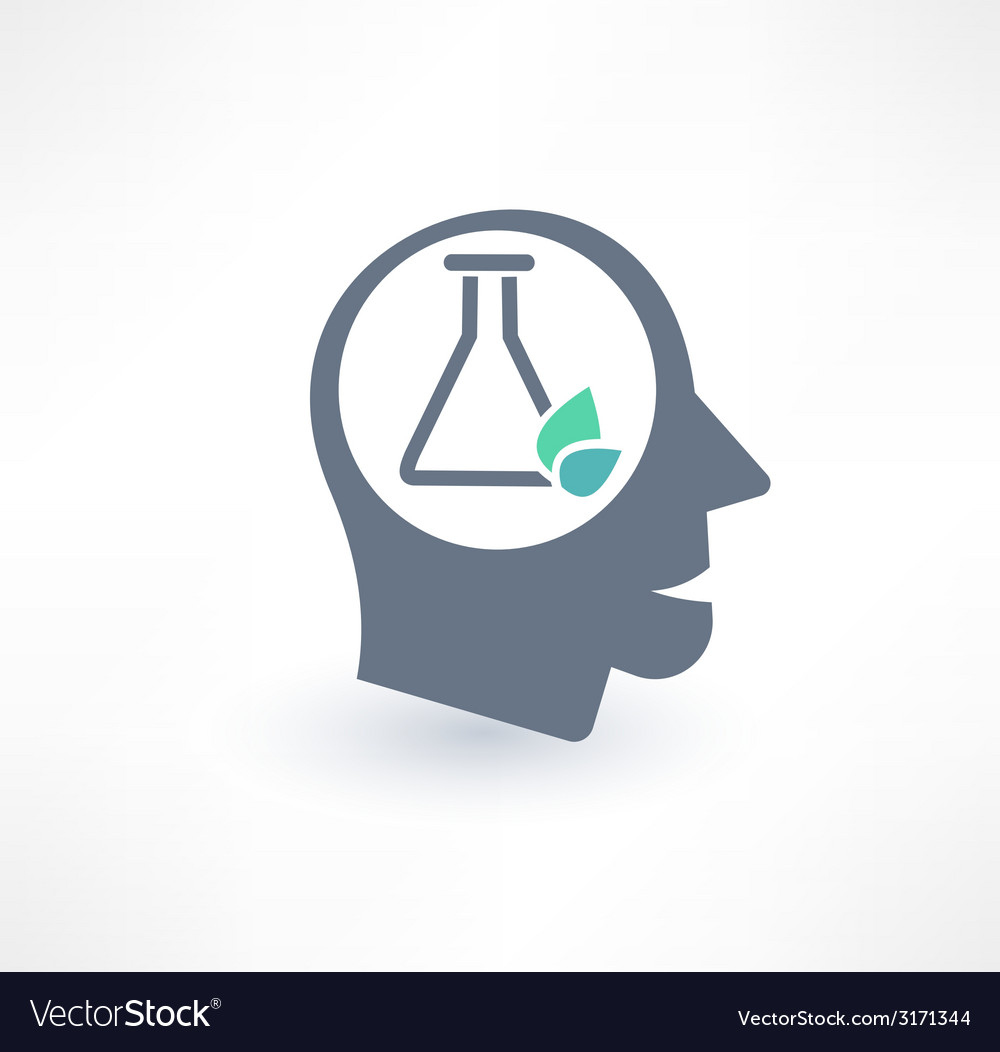 Chemist icon the concept of scientific workers vector