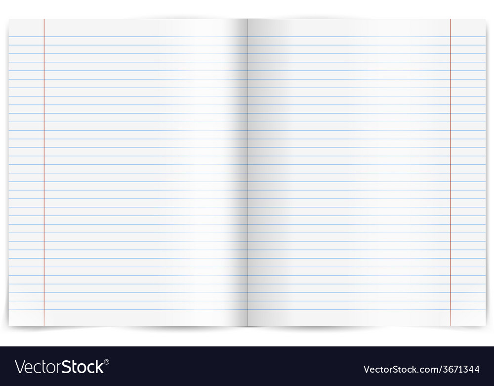 Exercise book vector