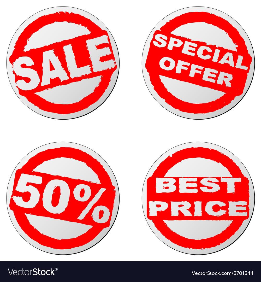 Sales sticker vector