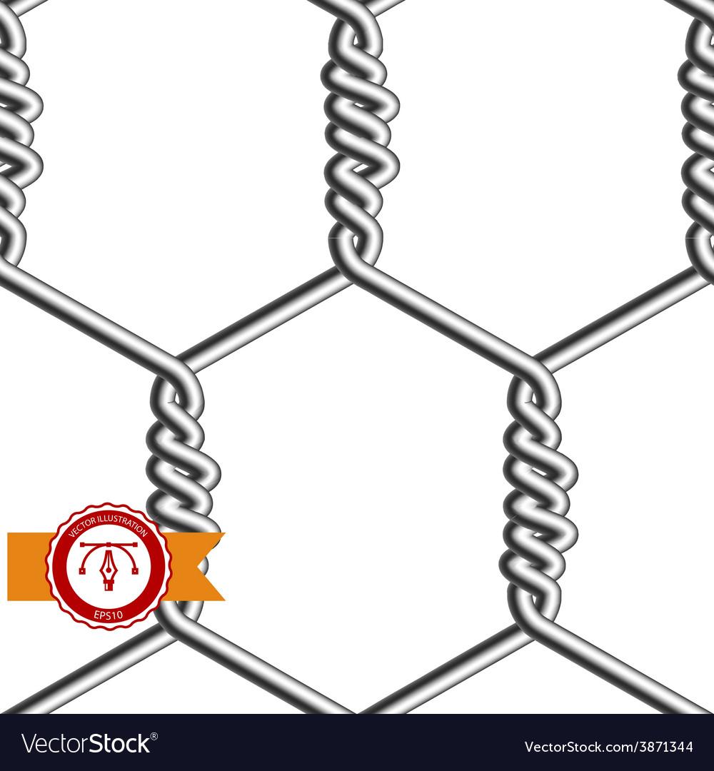 Seamless chicken wire mesh vector