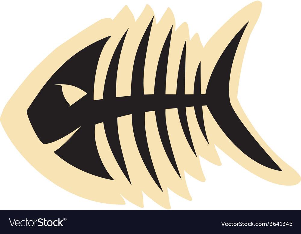 Good fish skeleton vector
