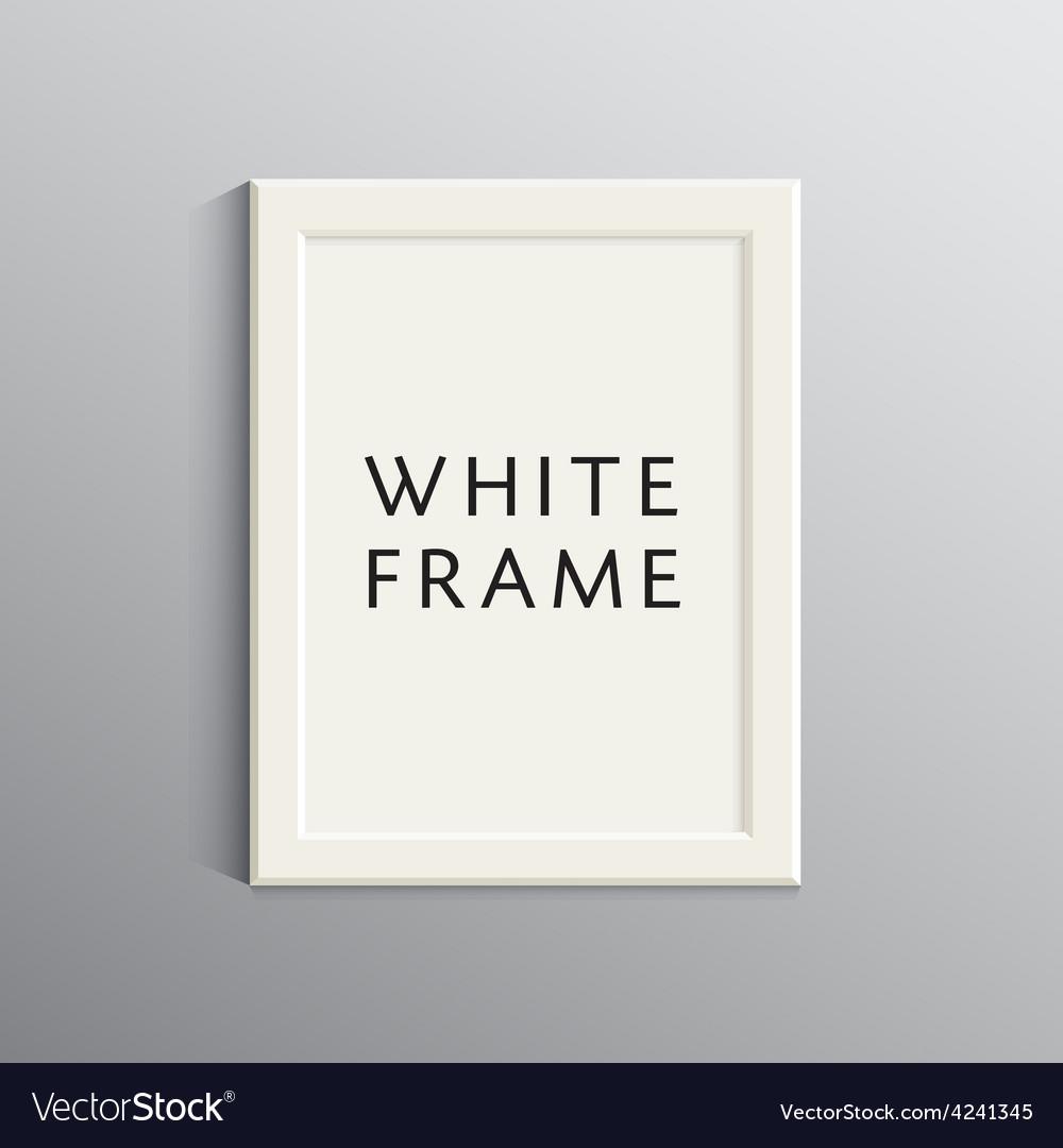 White 3d frame for a4 vector