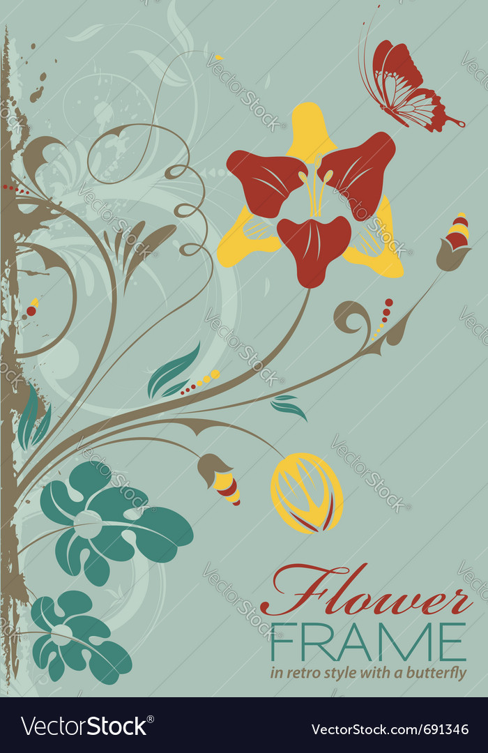 Grunge decorative floral vector