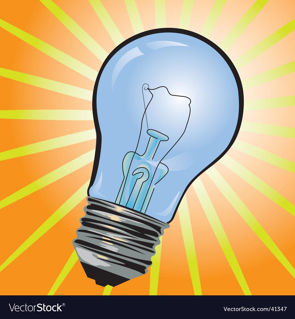 Blue bulb vector
