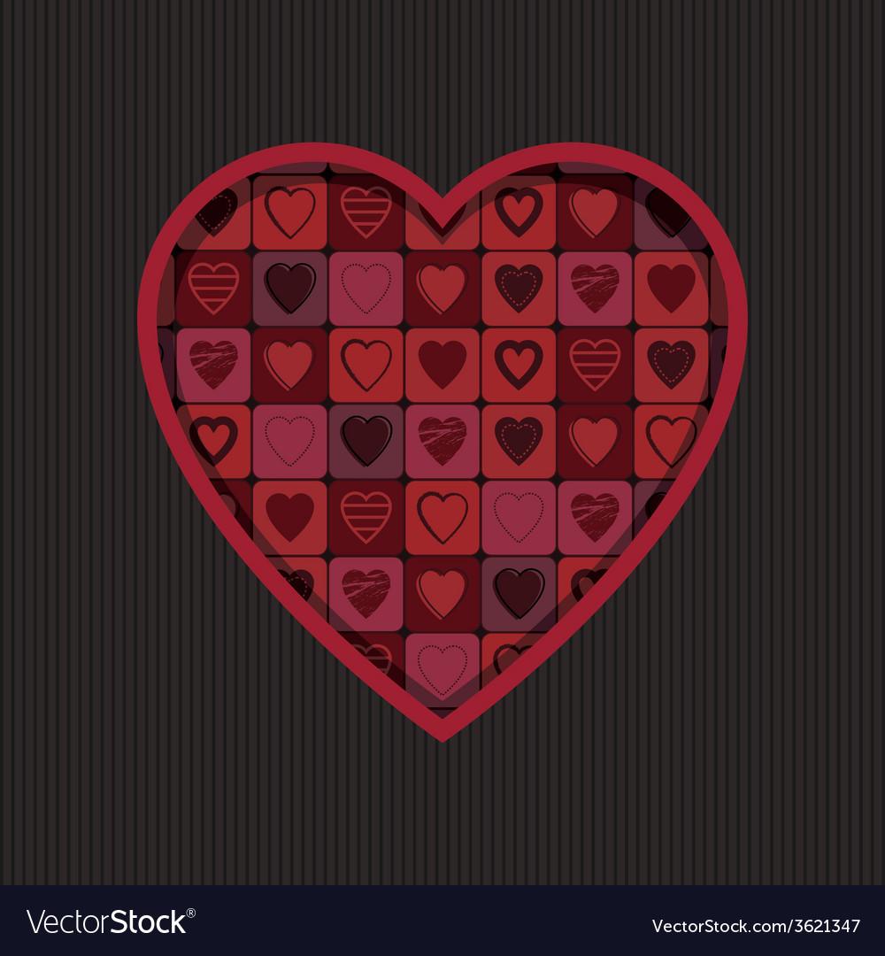 Valentine heart decoration vector