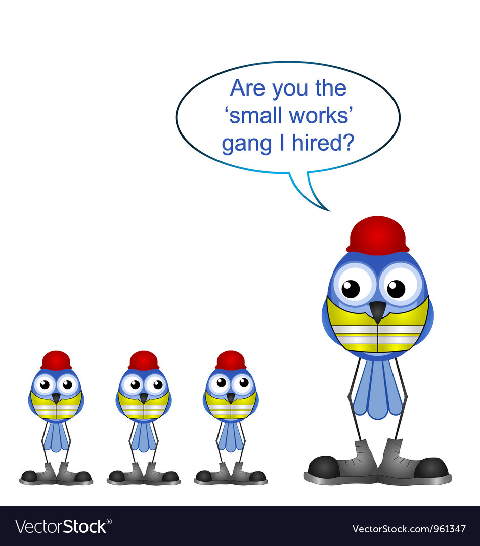 Workers small works vector