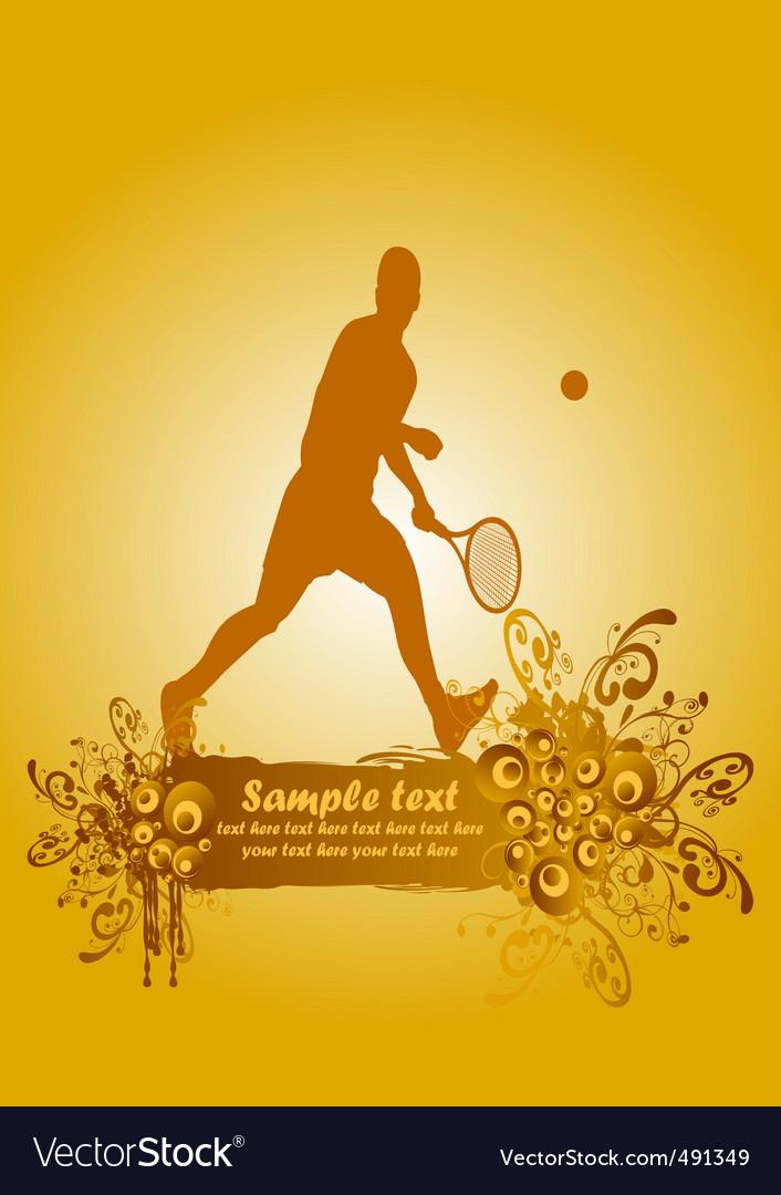 Tennis poster2 vector