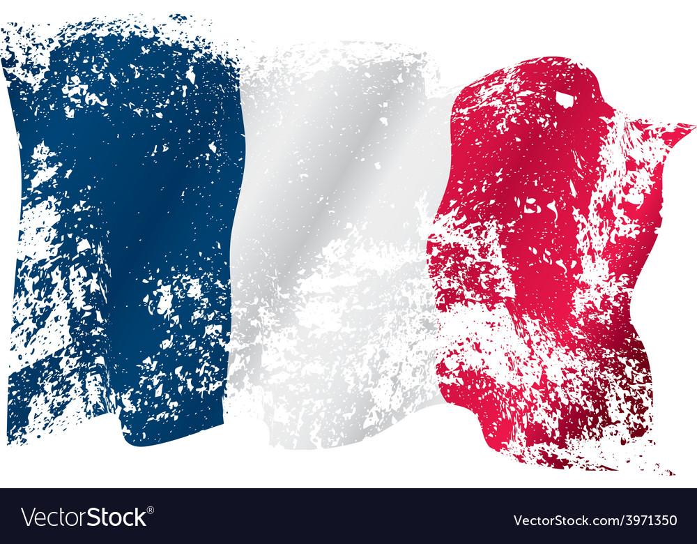 France grunge flag vector