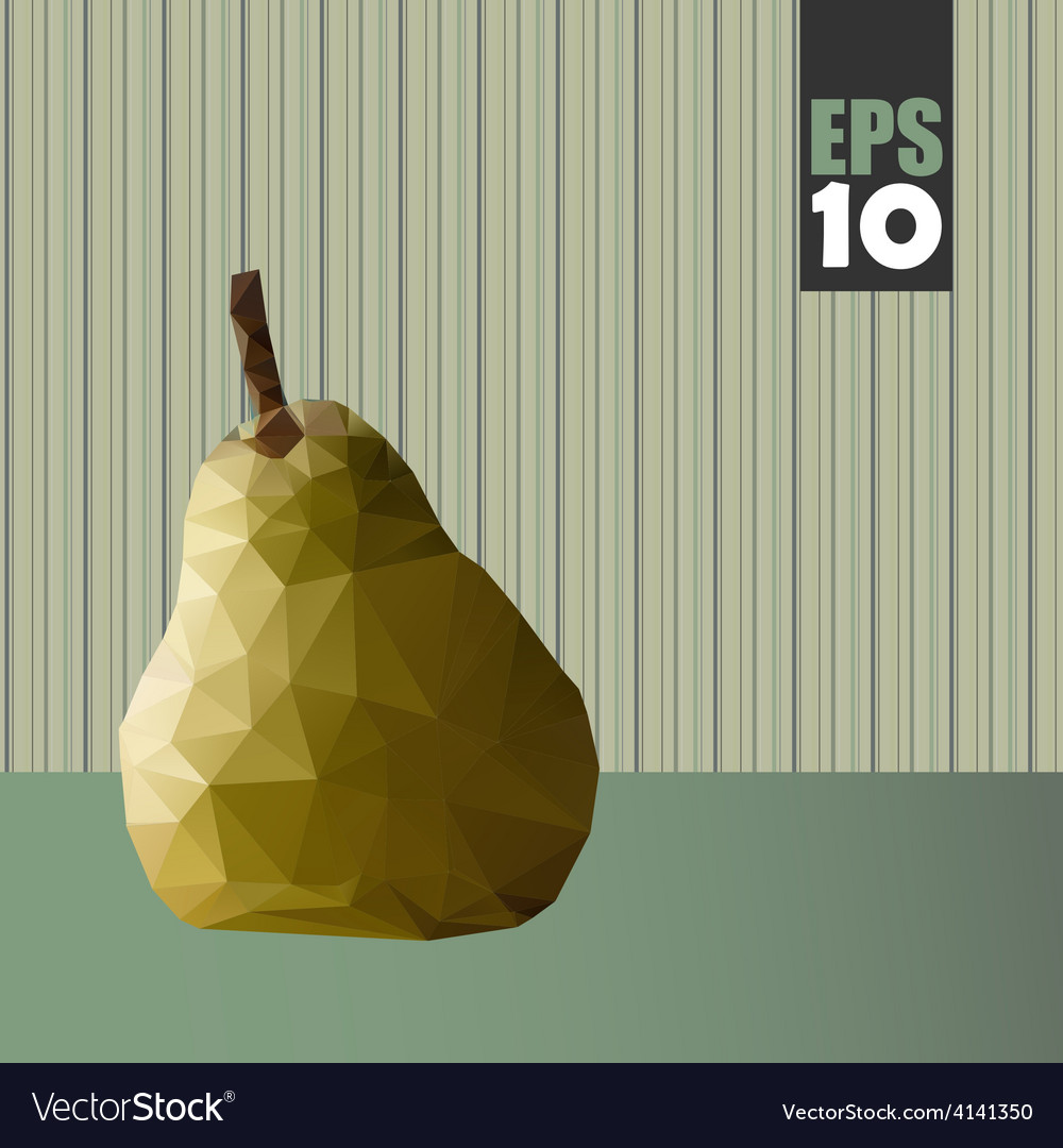 Geometric pear with textures vector