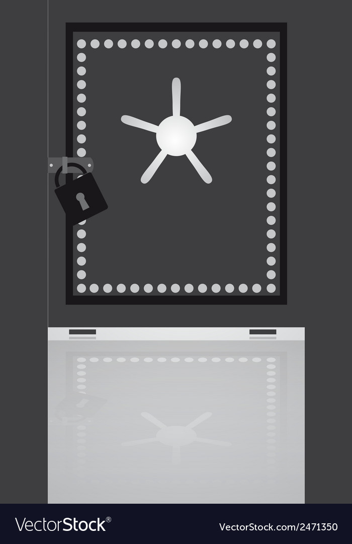 Security safe eps10 vector
