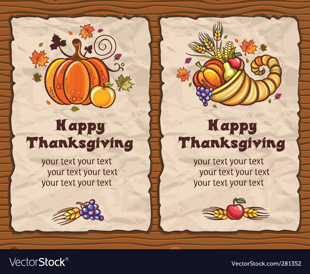 Thanksgiving backgrounds vector