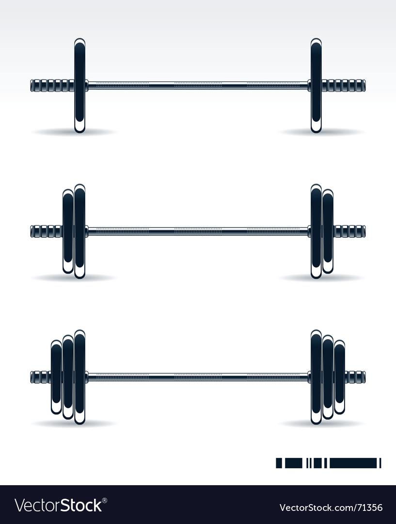 Bodybuilding equipment vector