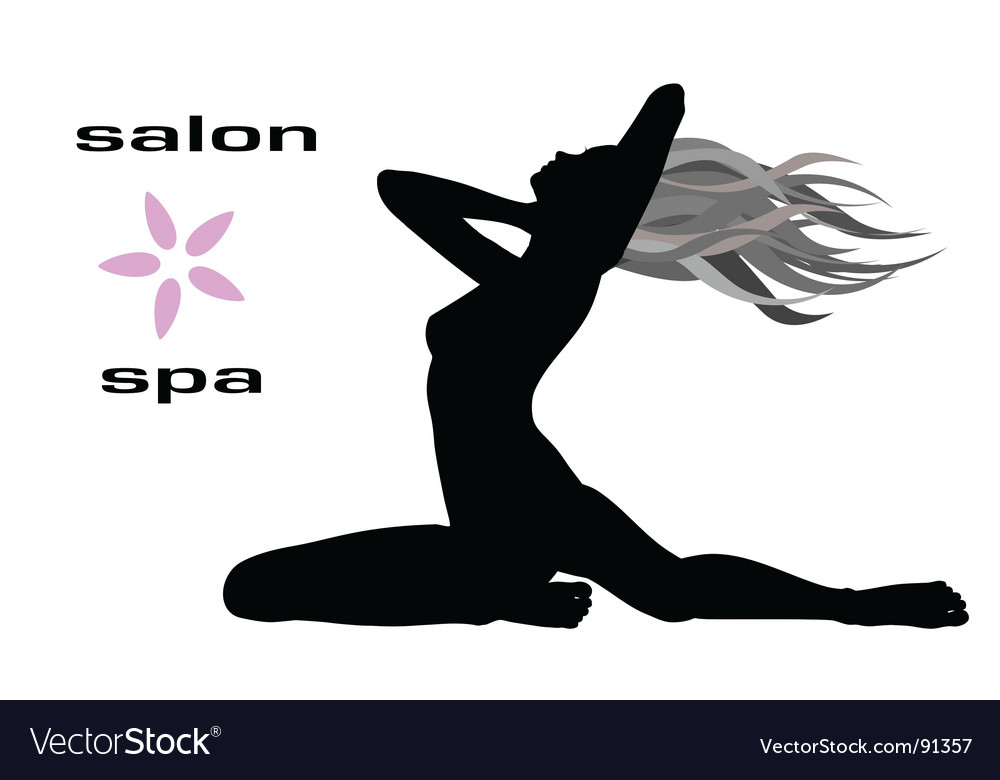 Silhouette woman vector