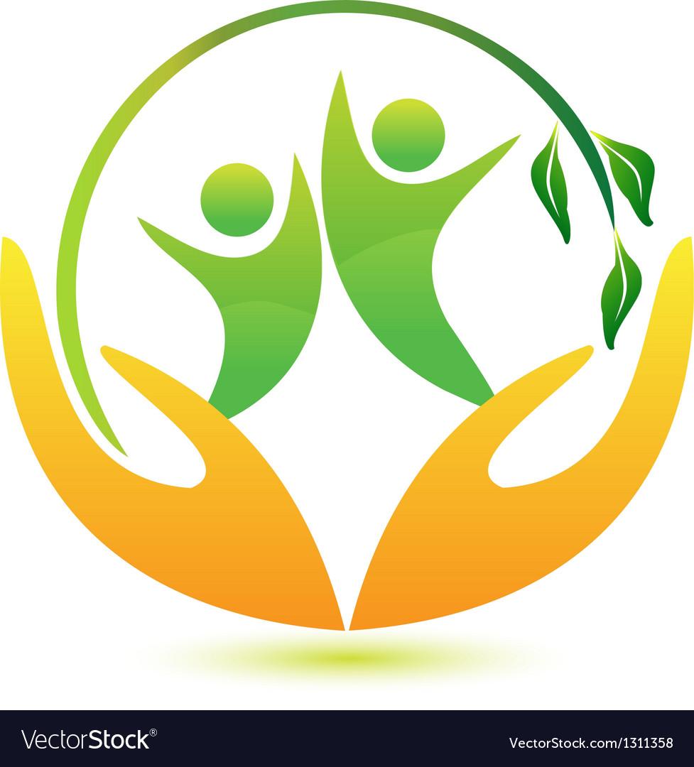 Healthy and happy people logo vector