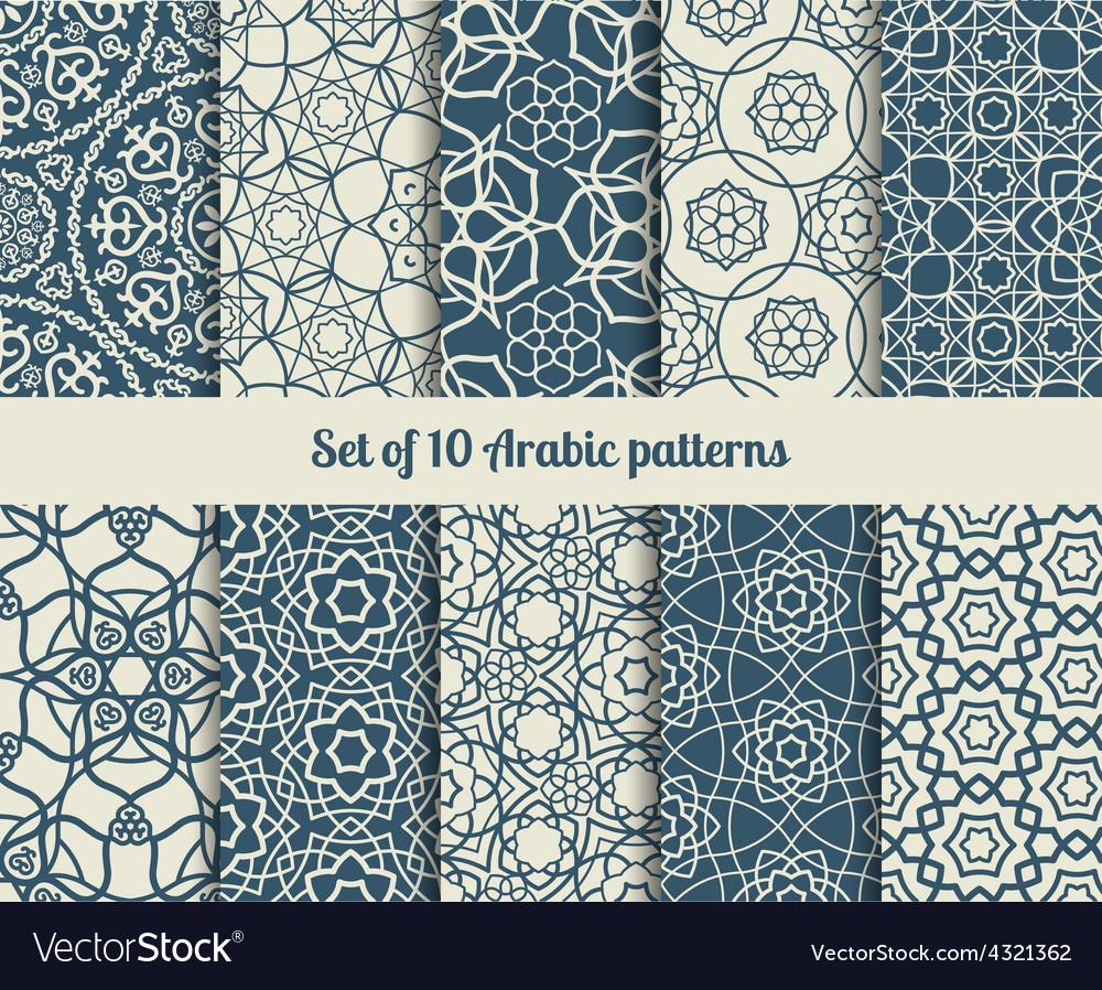 Arabic patterns vector