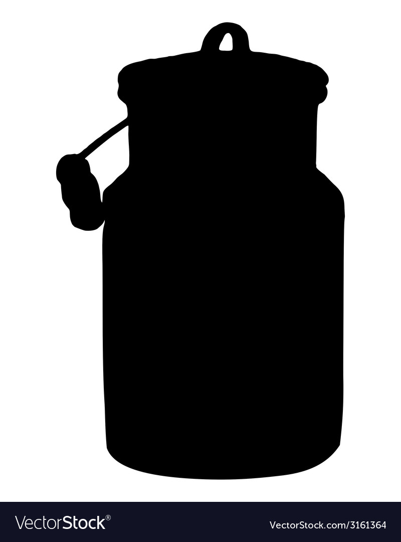 Old milk can vector