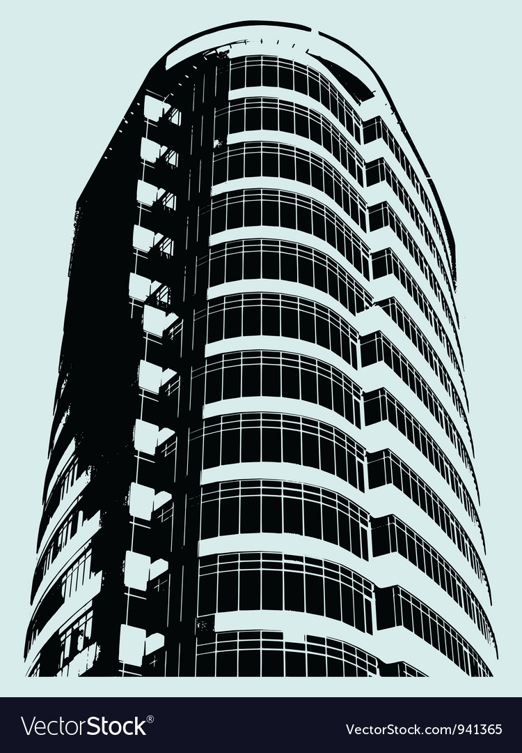 Building in grunge style vector