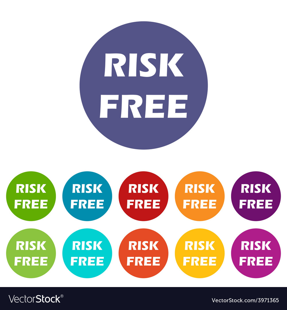Risk free flat icon vector