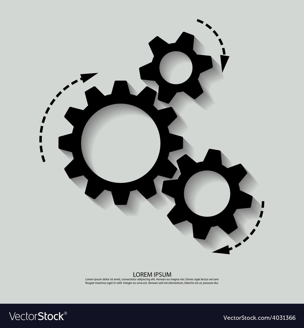 Mechanism black white vector