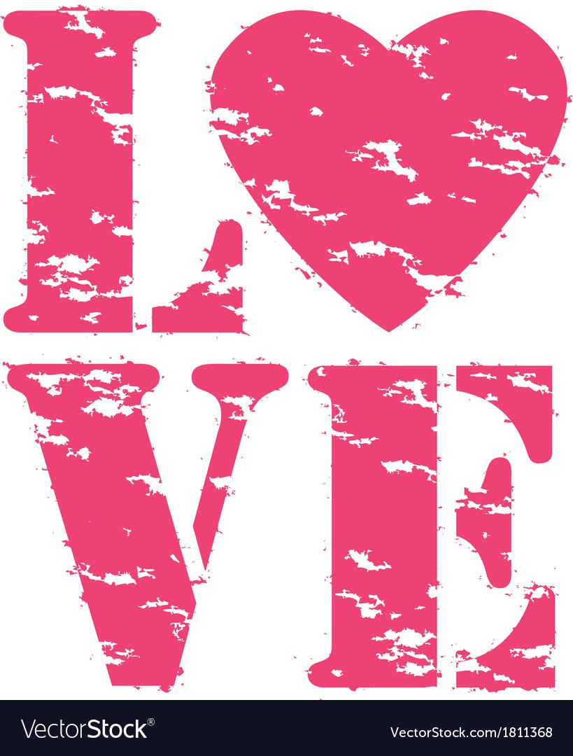 Love grunge rubber stamp vector