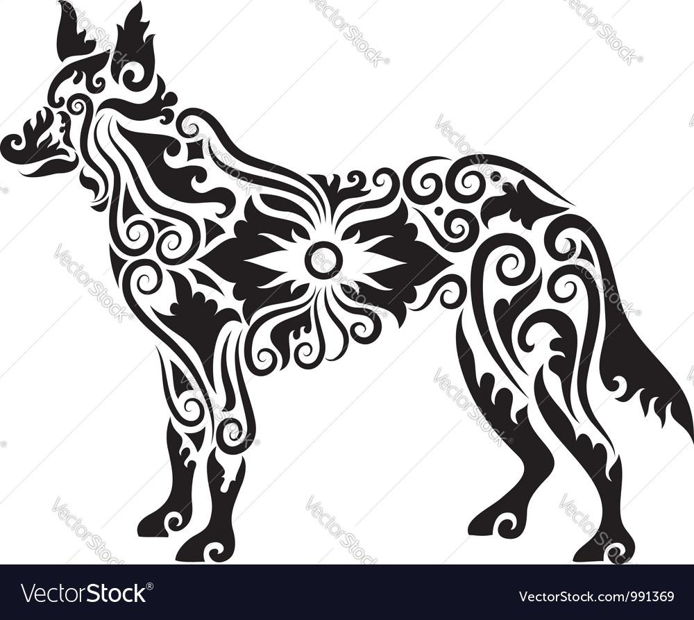 Dog tattoo 2 vector