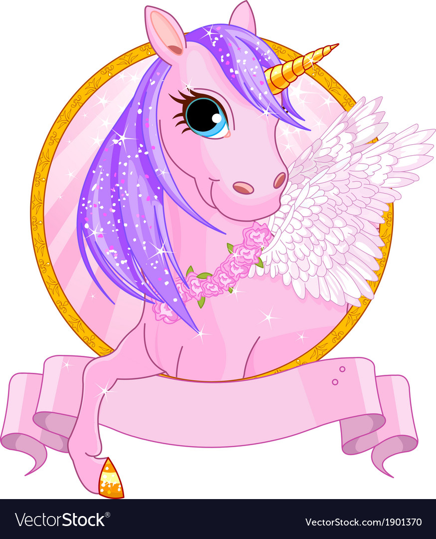 Unicorn sign vector
