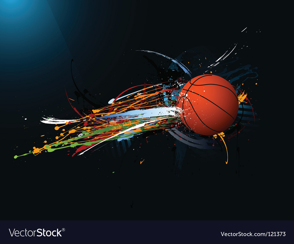 Grunge basketball vector