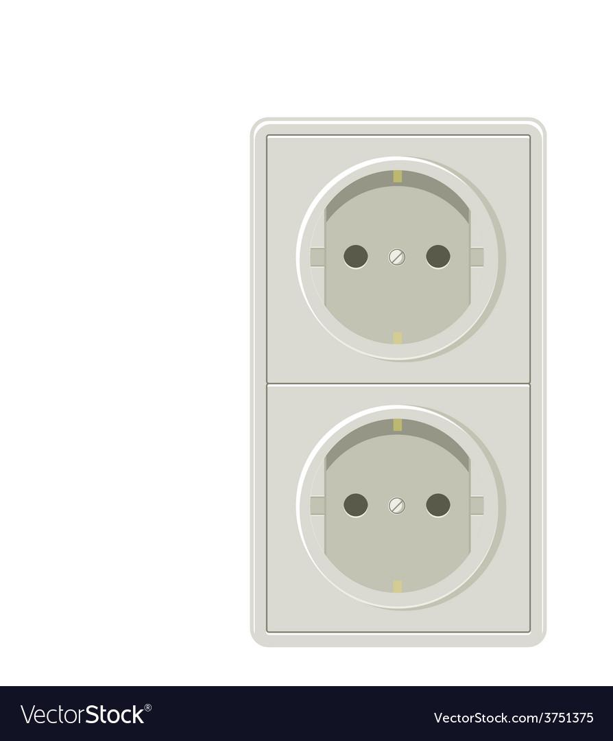 Electricity plug vector