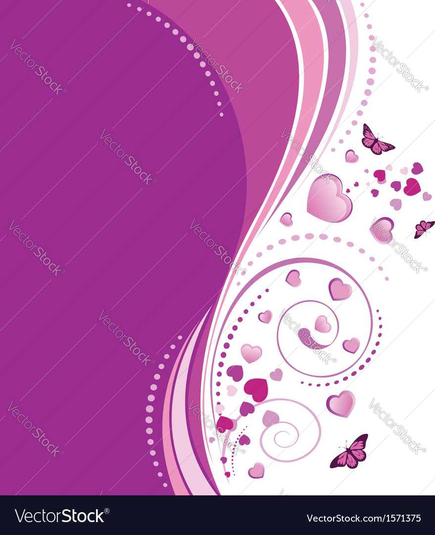 Violet swirl ornament vector