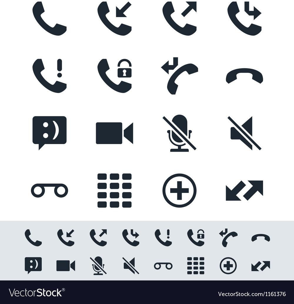 Telephone icon simplicity theme vector