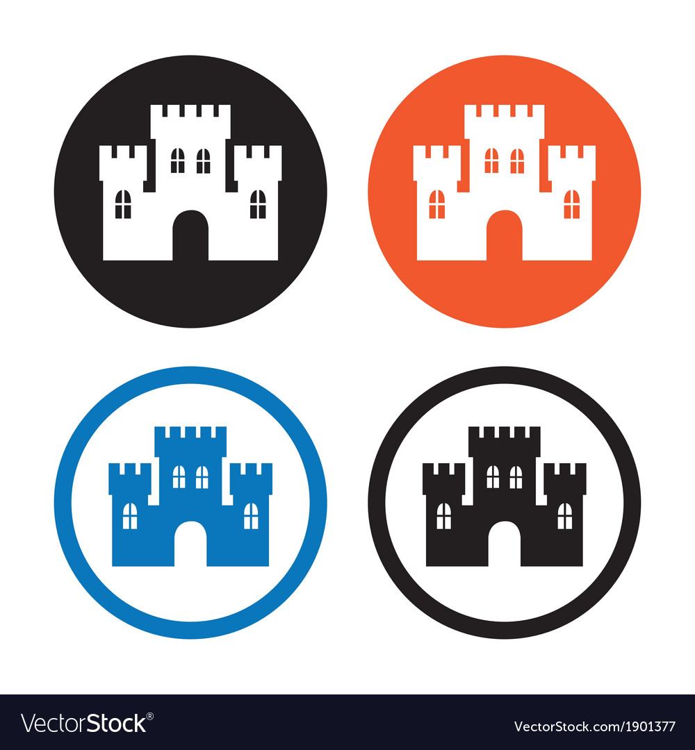Castle icons vector