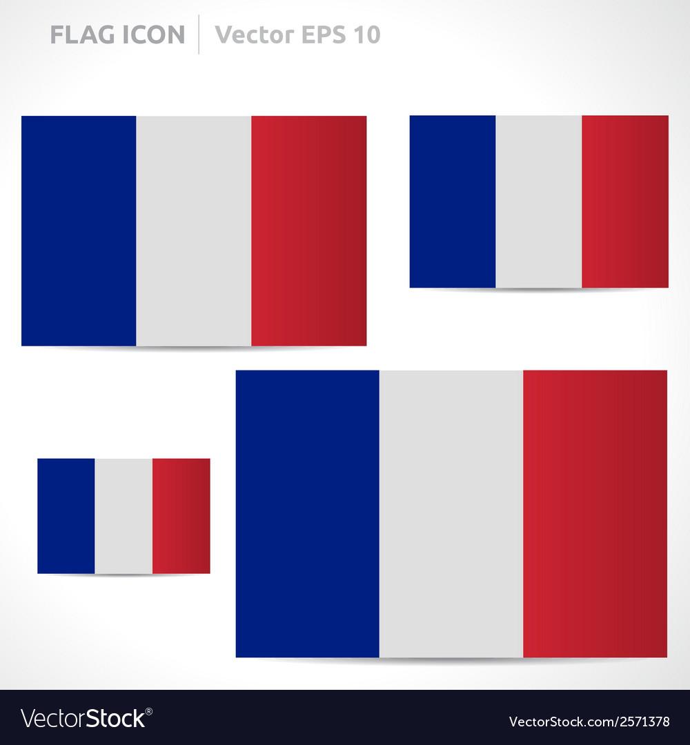 France flag template vector