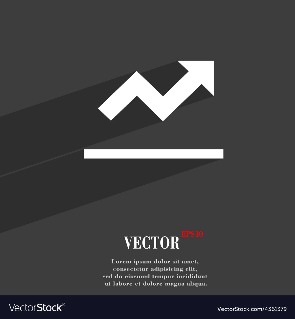 Graph chart diagram icon symbol flat modern web vector