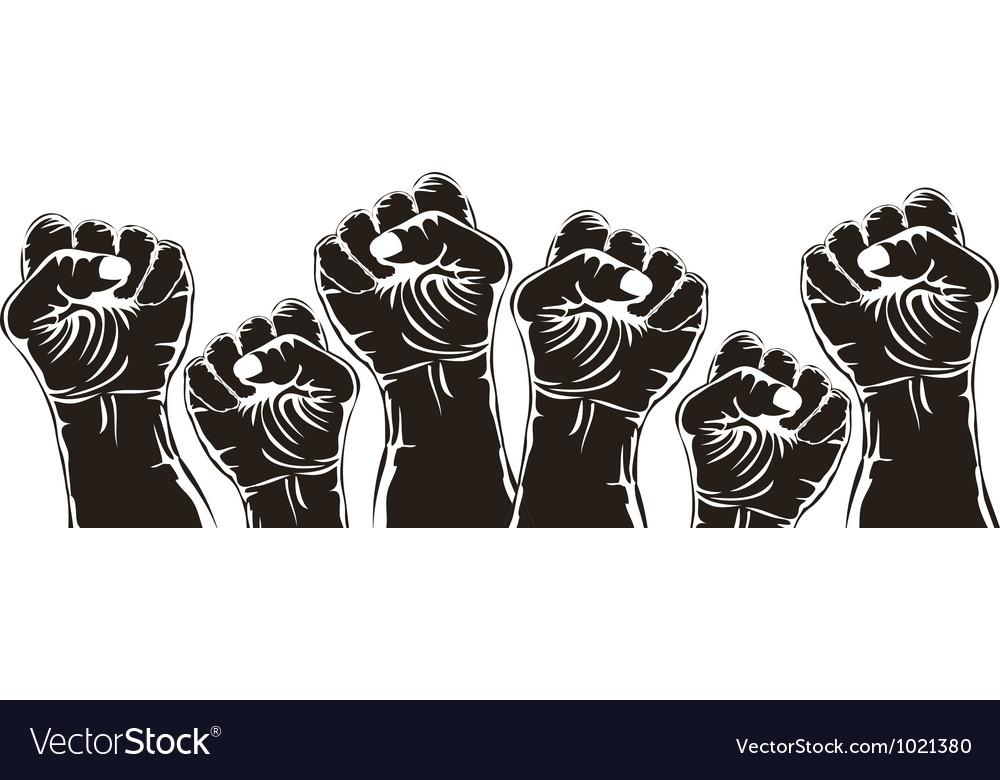 Fist for revolution vector