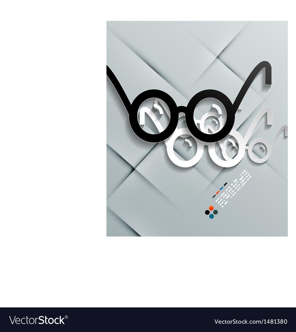 Glasses paper modern design vector