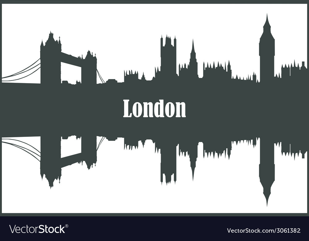 Contour of the city of london vector