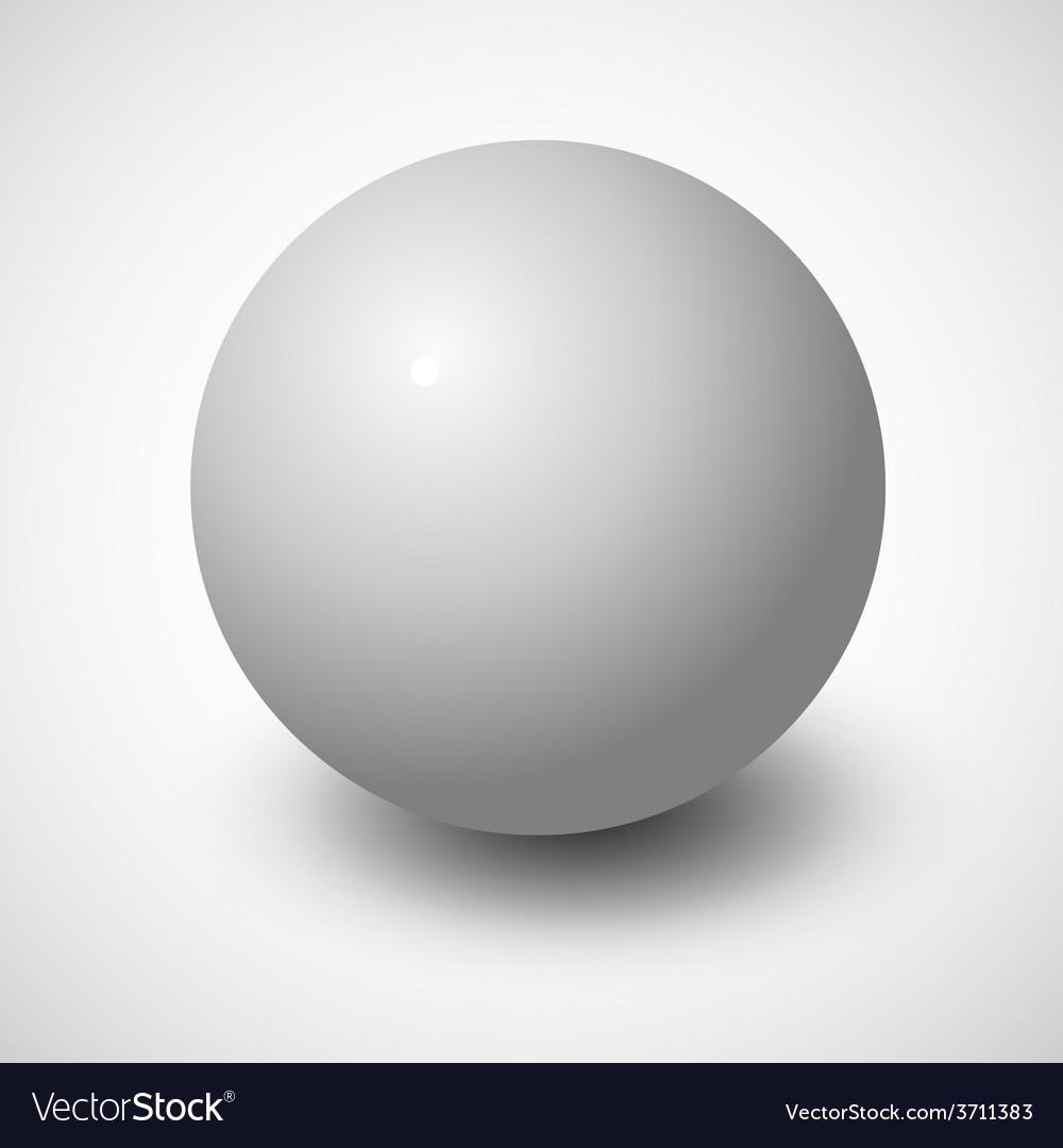 Blank grey sphere vector
