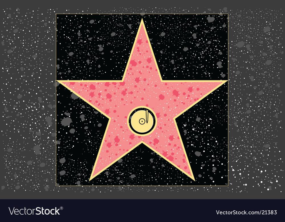 Recording star vector
