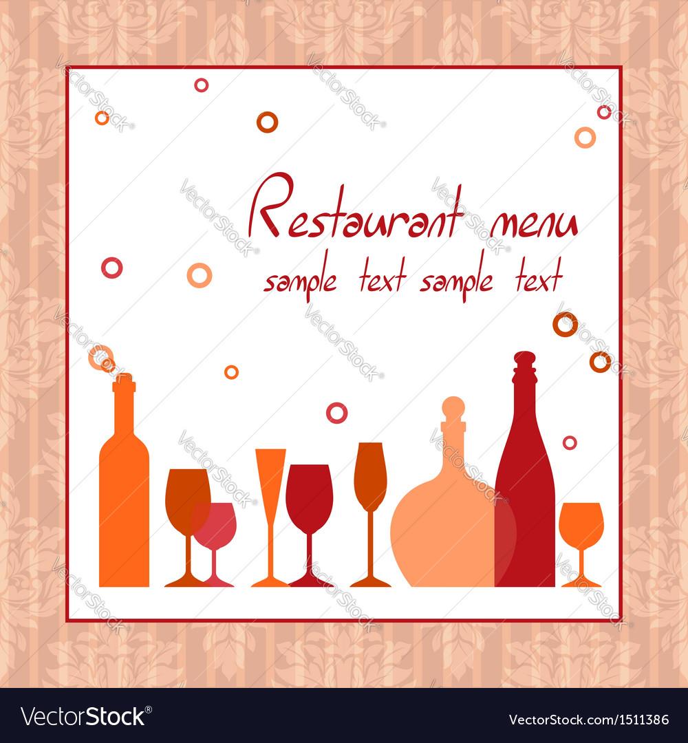 Alcohol bar or restaurant menu vector