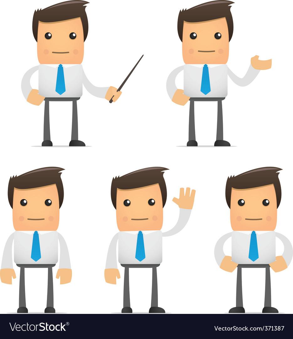 Cartoon office workers vector
