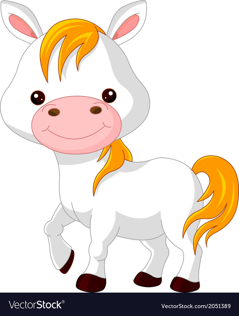 Farm animals horse vector