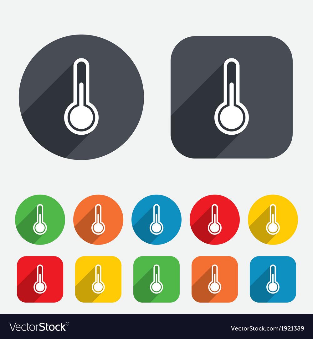 Thermometer sign icon temperature symbol vector