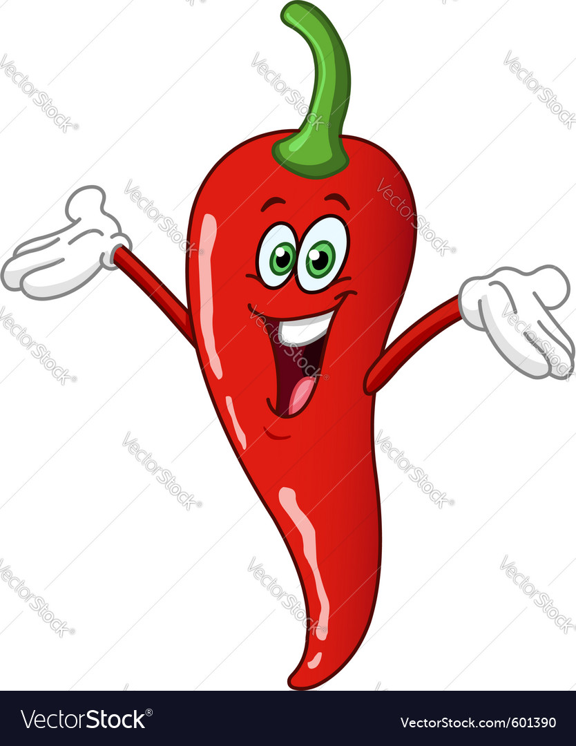 Chili pepper cartoon vector