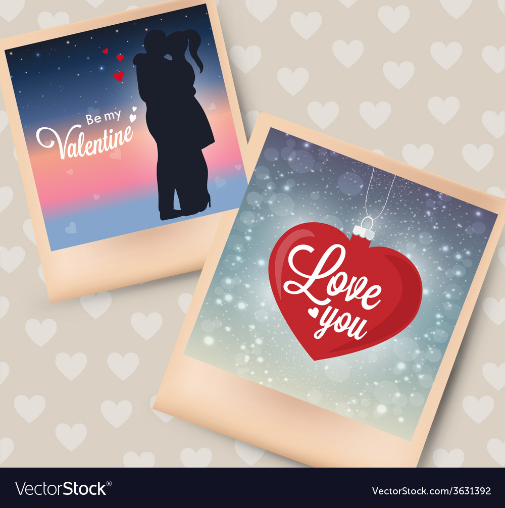 Photo card great for your design vector